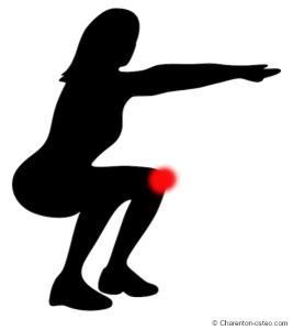 douleur genou squat escaliers