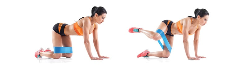 exercices fessiers douleur genou