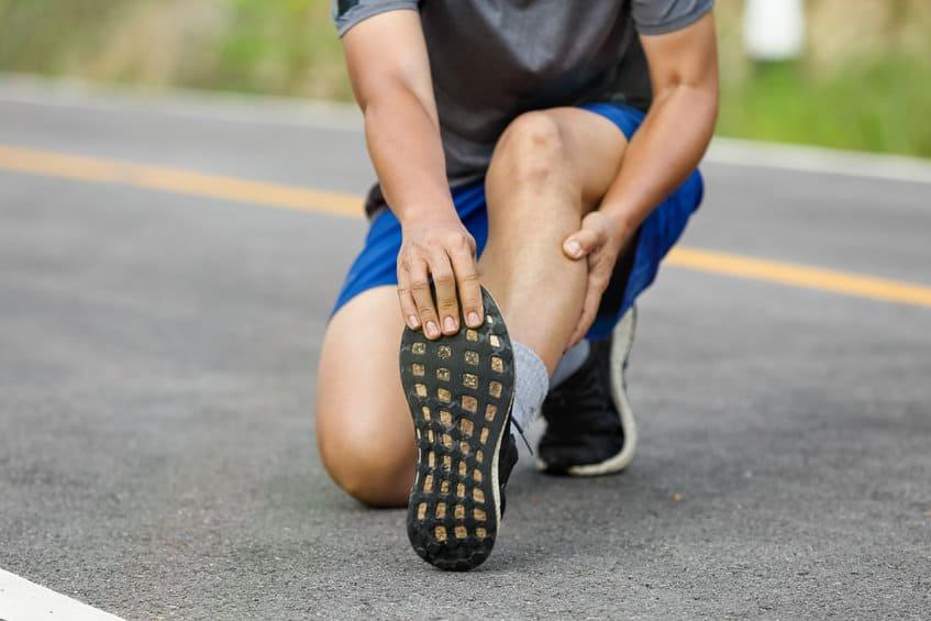 crampe au pied sportif